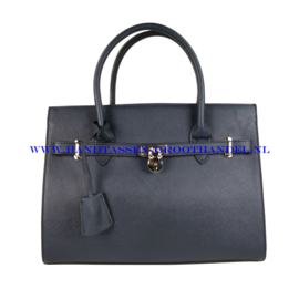 N76 Handtas Flora & Co 6513 blauw