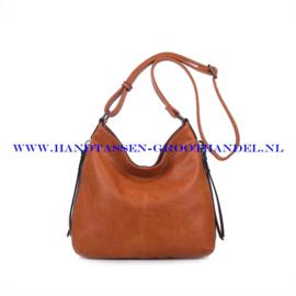 N72 Handtas Ines Delaure 1681669 fauve (oranje - camel)