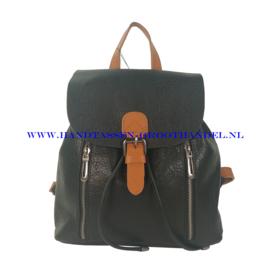 N72 Handtas Flora & Co 6735 zwart-camel