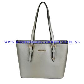 N73 Handtas Flora & Co F9179 zilver