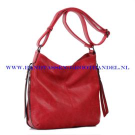 N72 Handtas Ines Delaure 1681669 marsala (rood)