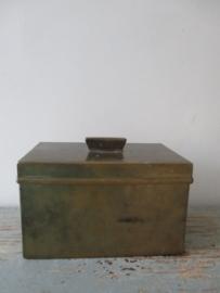 Oud bakkersblik van koper SOLD