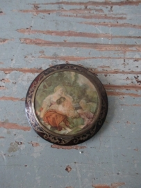 Antiek Frans spiegeldoosje SOLD