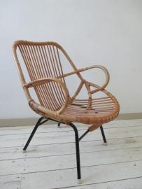 Vintage rohe rotan stoel retro SOLD