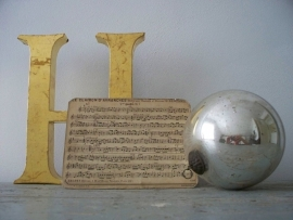 Oud Frans muziek kaartje SOLD