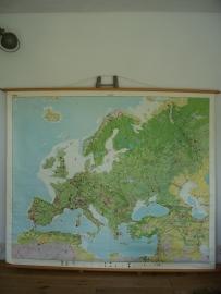 Oude schoolplaat europa bosgebied XXL SOLD