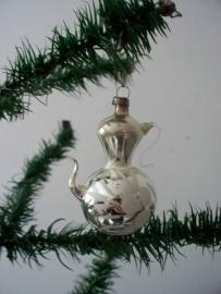 Oude antieke kerstbal / koffiepotje SOLD