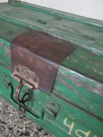 Oude metalen kist uit India SOLD