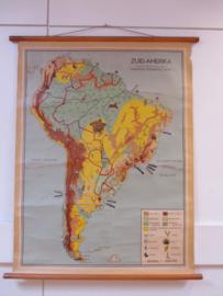 Oude schoolplaat Zuid Amerika