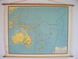 Oude schoolplaat Australie SOLD