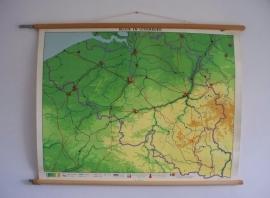 Oude schoolplaat Belgie en luxemburg SOLD