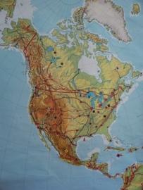 Oude schoolplaat Noord Amerika SOLD