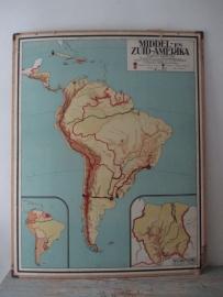 Oude schoolplaat Midden en Zuid-Amerika SOLD