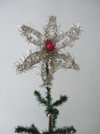 Oude tinsel kerstster / piek SOLD