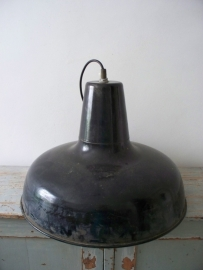Grote industriele emaille lamp XXL SOLD