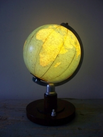 Oude Globe / wereldbol lamp SOLD