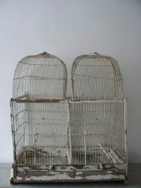 Grote antieke Franse vogelkooi SOLD