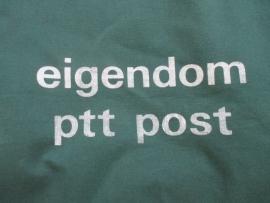 Oude groene postzak PTT