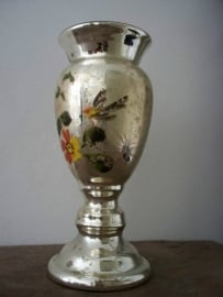 Oud Armeluiszilver/zilverglas vaas SOLD