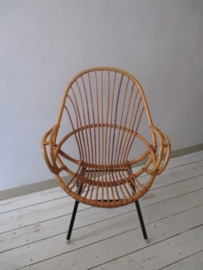 Oude rotan stoel vintage SOLD