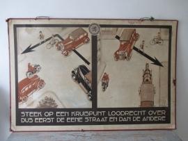 Antieke ANWB schoolplaat 1924 SOLD