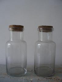 Oude glazen potten SOLD