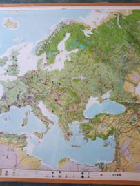 Oude schoolplaat europa XXL