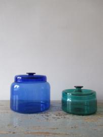 Retro vintage  glazen potten ( Denemarken ) SOLD