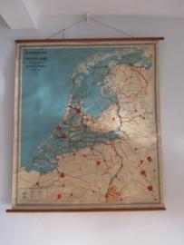 Antieke schoolplaat Nederland SOLD