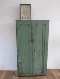 Oude houten locker kastje SOLD