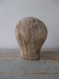 Oude houten pruikenkop / hoedenmal SOLD