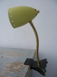 Oud klemlampje retro/vintage SOLD