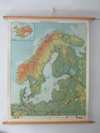 Oude schoolplaat Noord-west  Europa SOLD