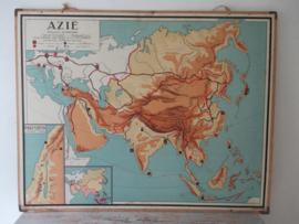 Oude schoolplaat Azie SOLD