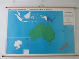 Oude schoolplaat Australie / Zuidpool SOLD