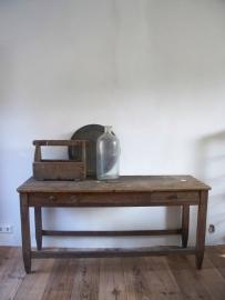 Oude Franse sidetable / werktafel SOLD