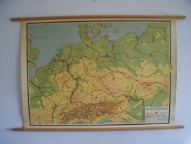 Oude schoolplaat midden Europa SOLD
