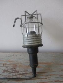 Oude industriele werklamp XXS SOLD
