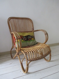 Oude rotan stoel SOLD