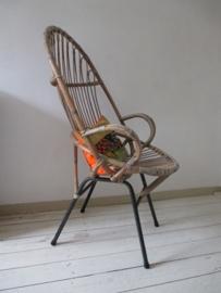 Vintage  rohe rotan stoel  SOLD