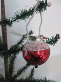 Oude antieke kerstbal / vogel SOLD