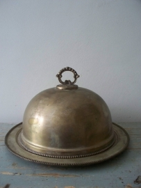 Brocante cloche hotelzilver SOLD