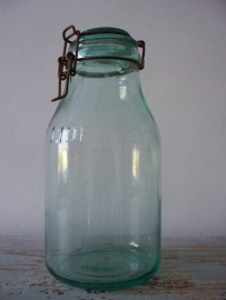 Oud glazen pot SOLD