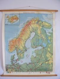 Oude schoolplaat Noord en West Europa SOLD