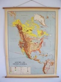 Oude schoolplaat Noord en Midden Amerika SOLD