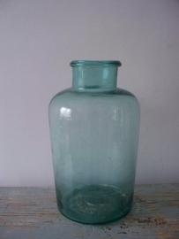 Oude glazen pot / vaas XXL SOLD