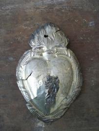 Antiek Frans zilveren hart (ev voto) SOLD