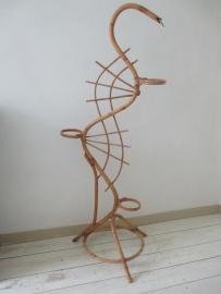 Vintage Rohe rotan plantenstandaard slang  ( klein model ) SOLD