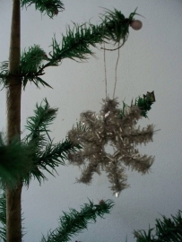 Antieke tinsel kerststerretjes SOLD