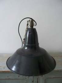 Grote industriele emaille  lamp SOLD